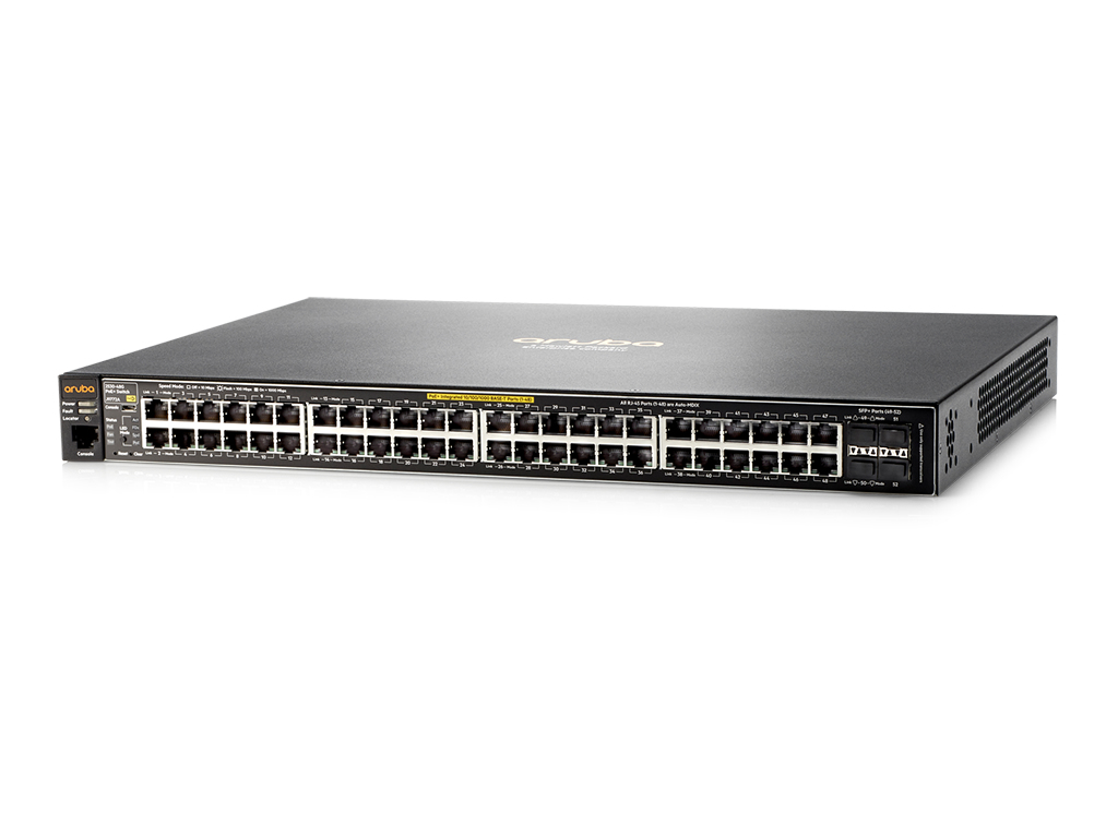 Hewlett Packard Enterprise Aruba 2530 48G PoE+ Managed L2 Gigabit Ethernet (10/100/1000) Power over Ethernet (PoE) 1U Black